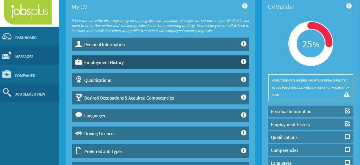Jobsplus CV