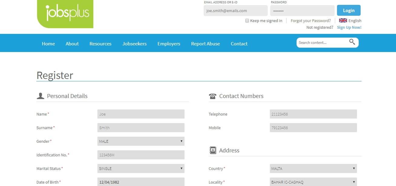 Jobsplus register