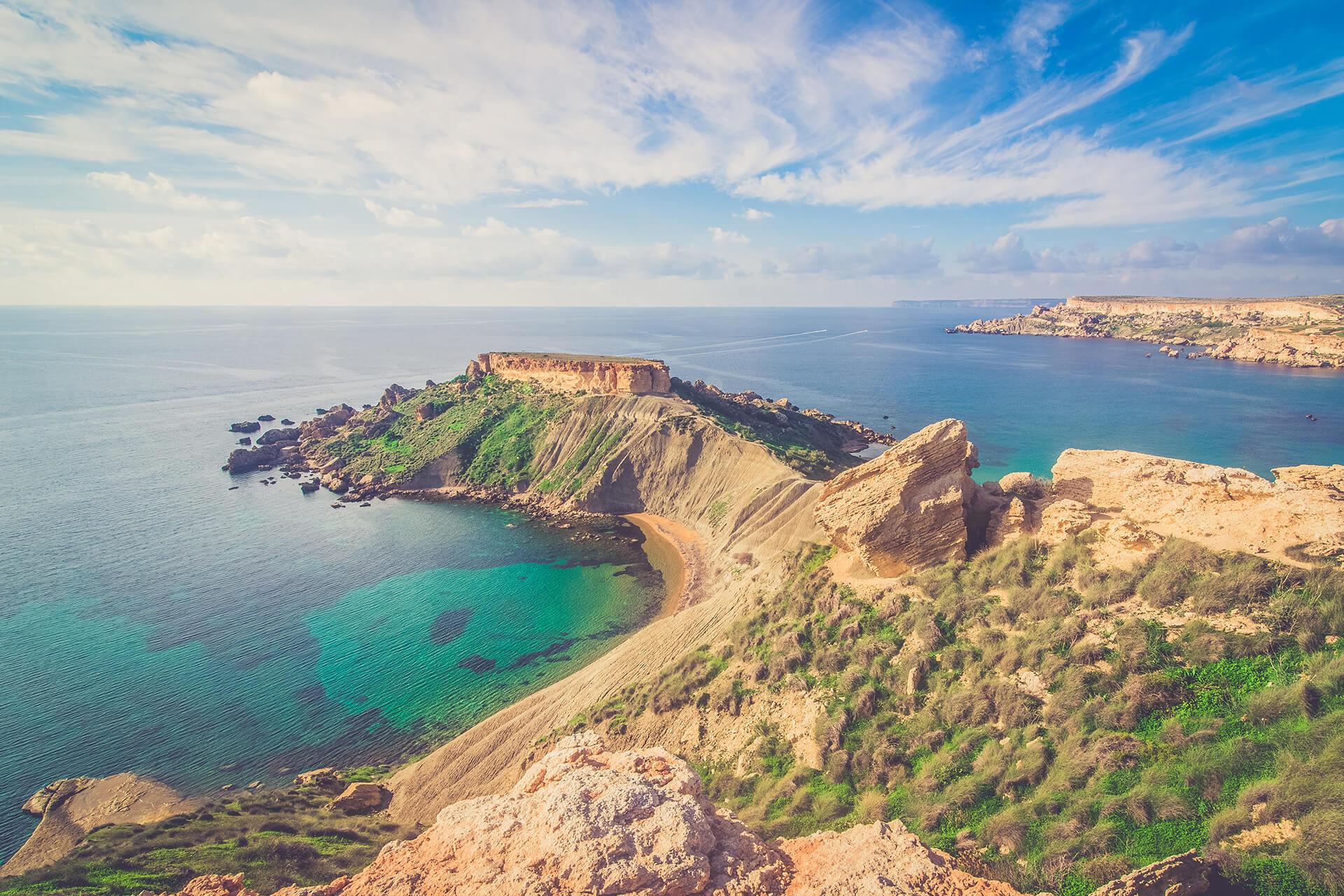 Magnifique vue de Malte